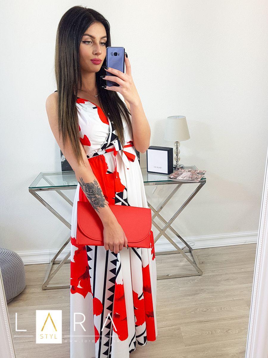 16e329827 Dlhé vzorované šaty, červené Dlhé vzorované šaty, červené empty